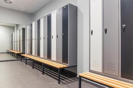 Imagem de armários em balneário desportivo