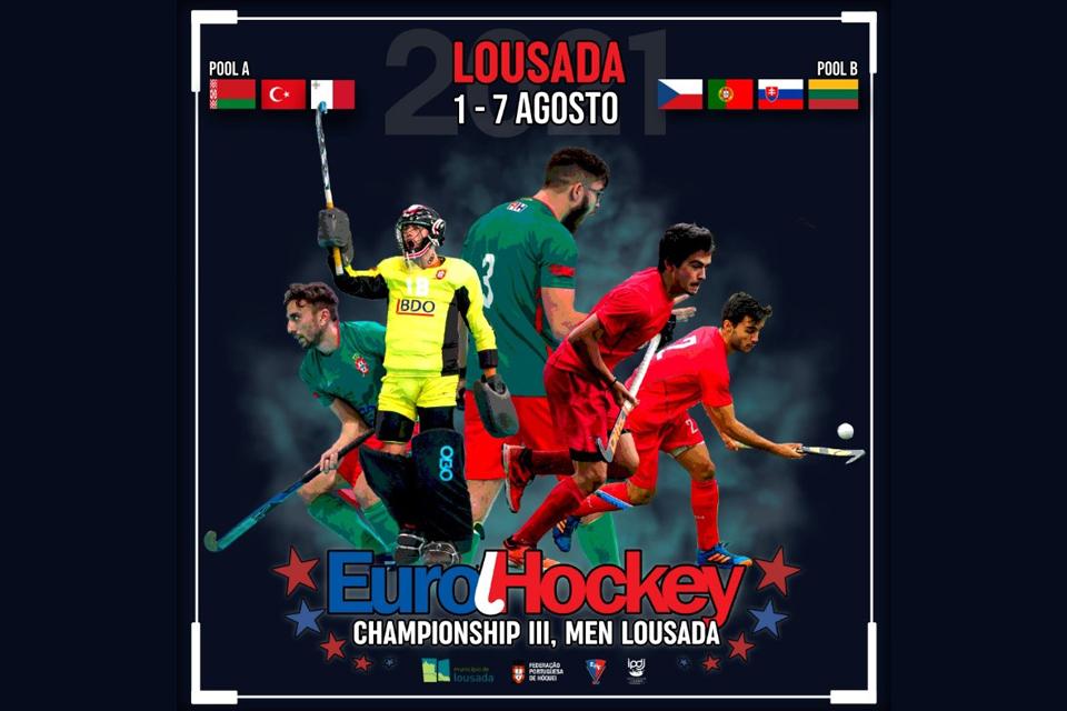 Projeto de Voluntariado Jovem - EuroHockey Championship III (Men) Lousada 1 a 7 de agosto