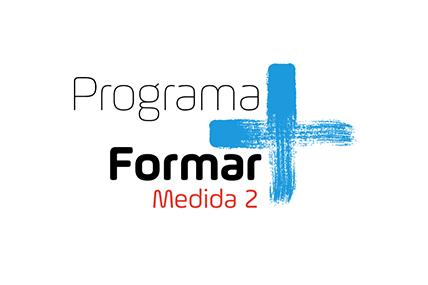 Imagem gráfica do Logo Formar mais em azul