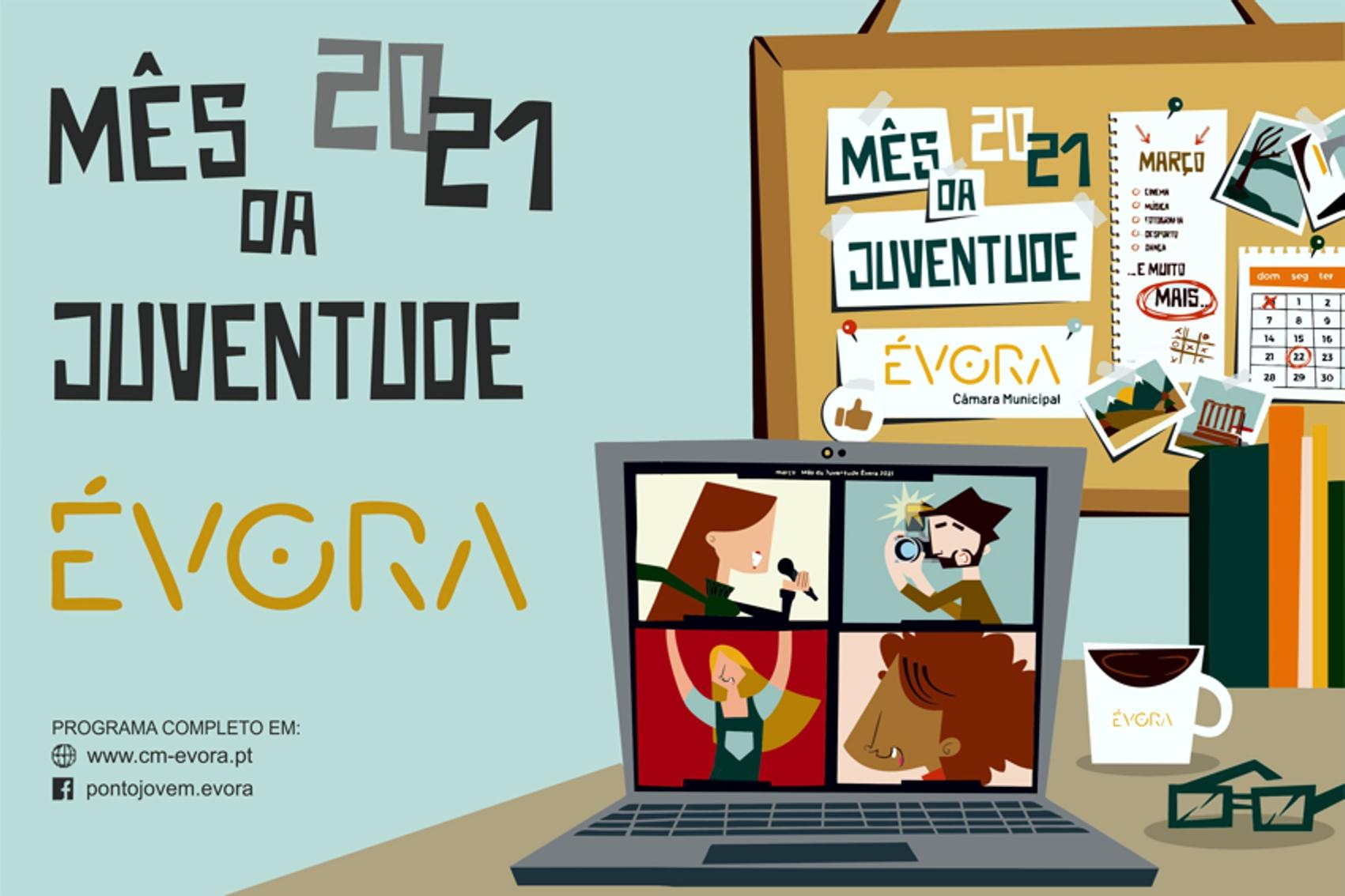 Cartaz Mês da Juventude em Évora