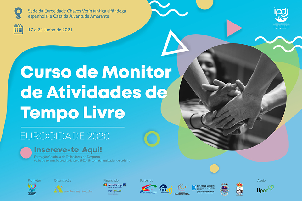 Curso de Monitor de Atividades de Tempo Livre de 17 a 22 de junho