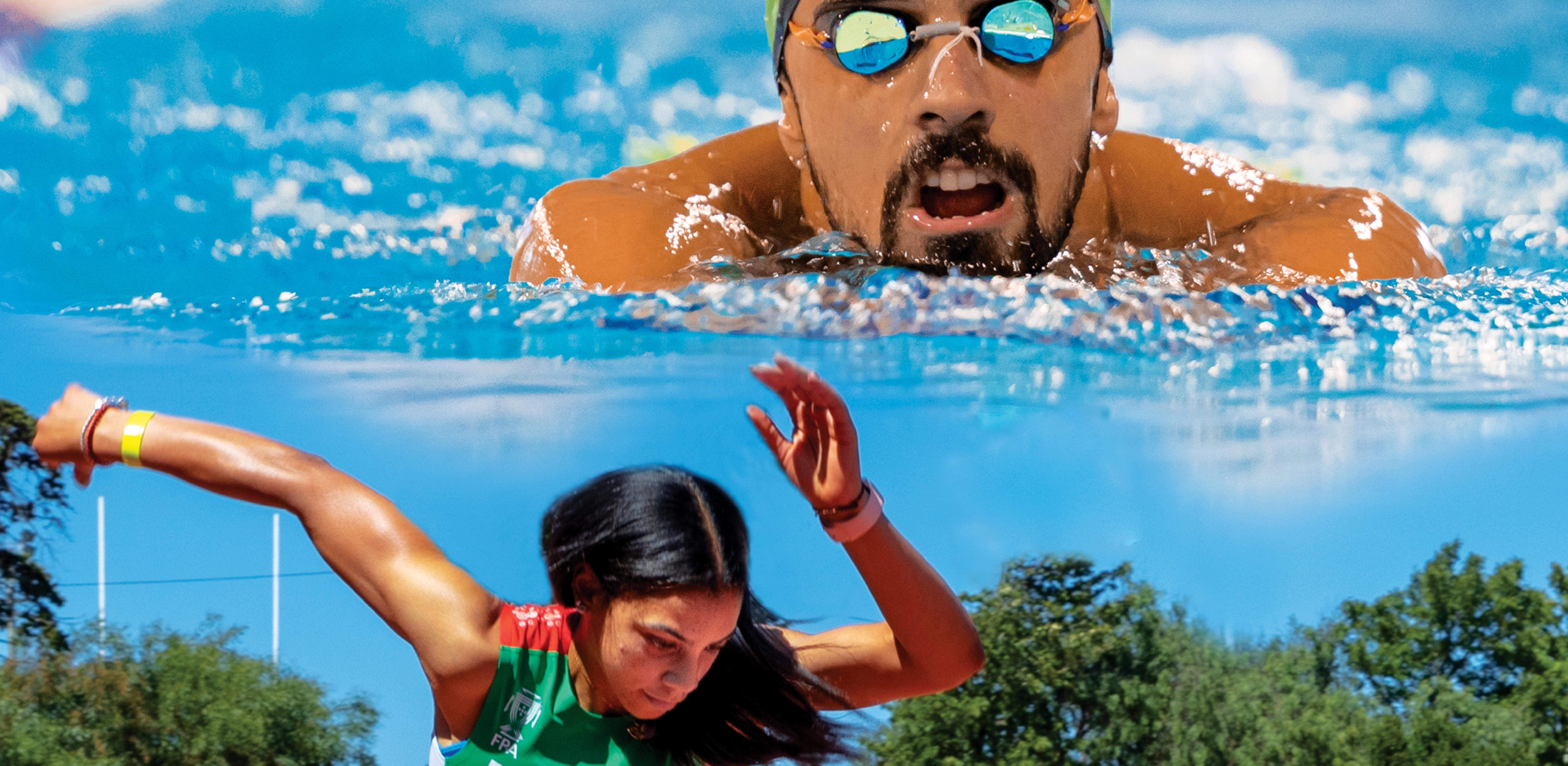 Nadador Alexis Santos e atleta Carina Paim