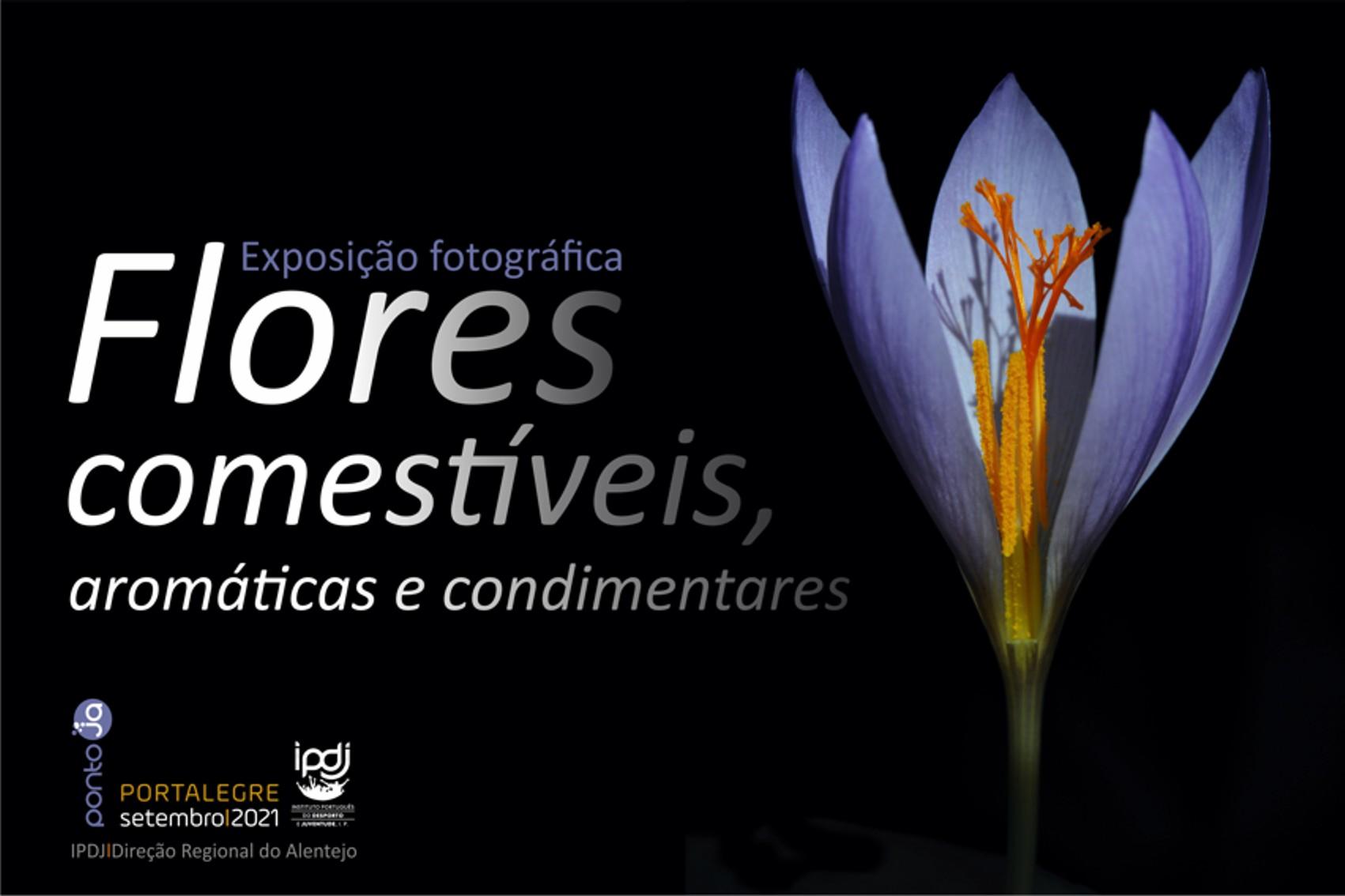 cartaz com flores comestíveis